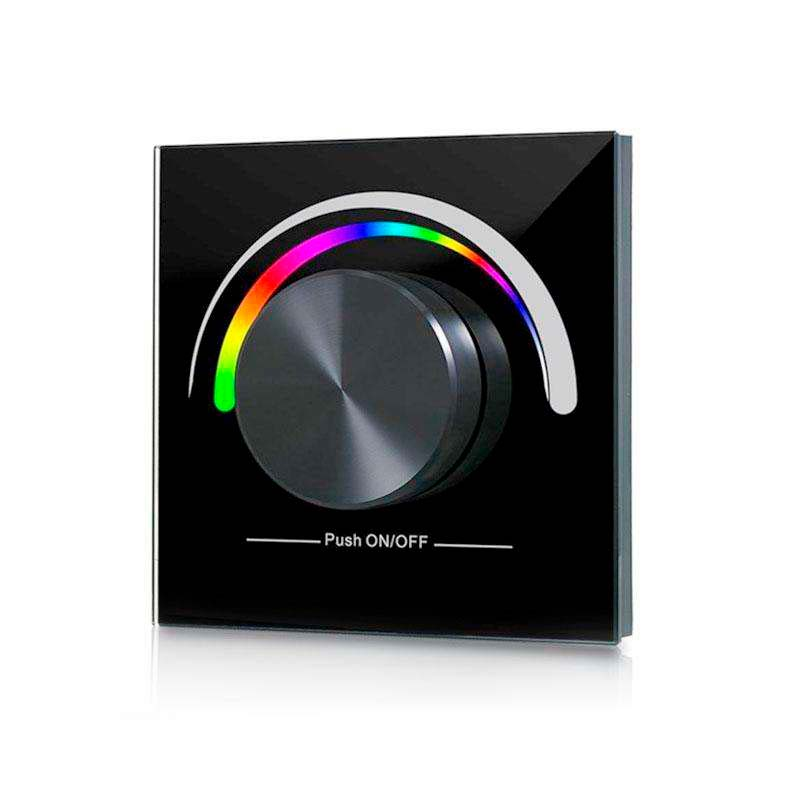 Panel frontal LB2836 RGB, Ruleta pared, negro